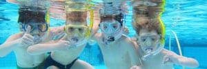 Snorkel les om te leren snorkelen